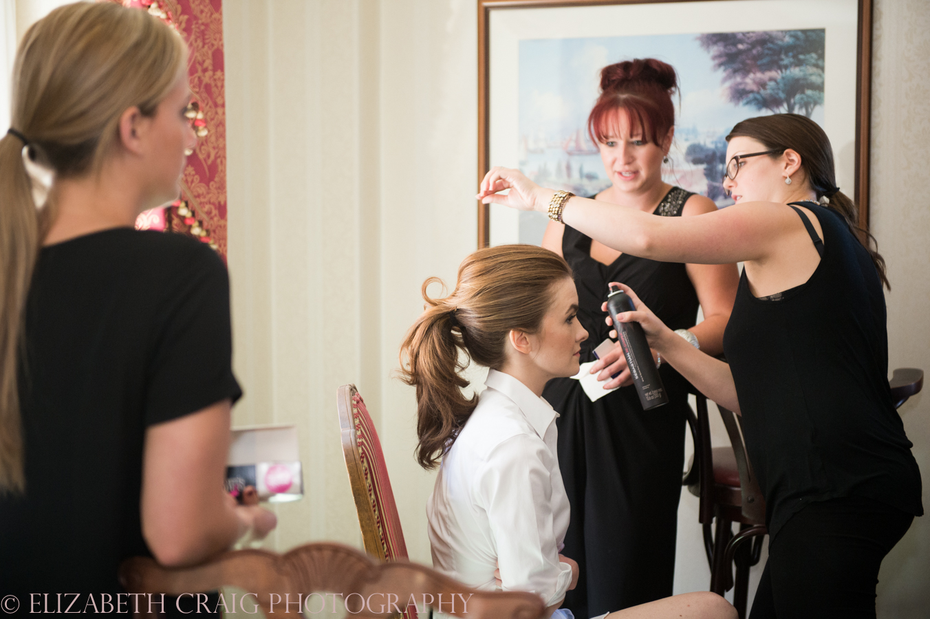 Omni William Penn Getting Ready Wedding Day Photos | Renaissance Suite-24