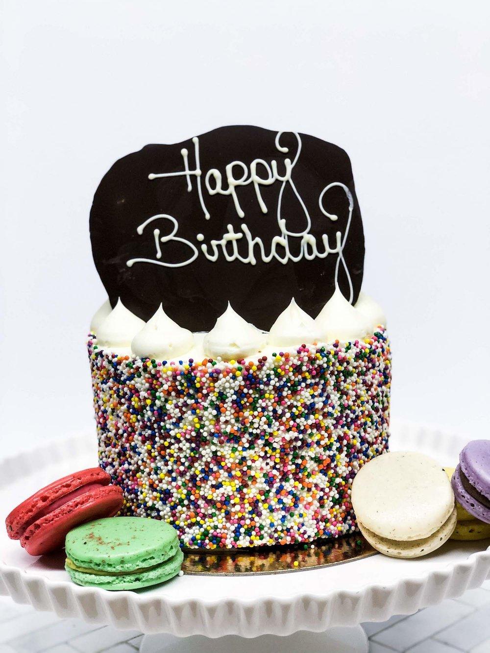 Classic Birthday + Macarons