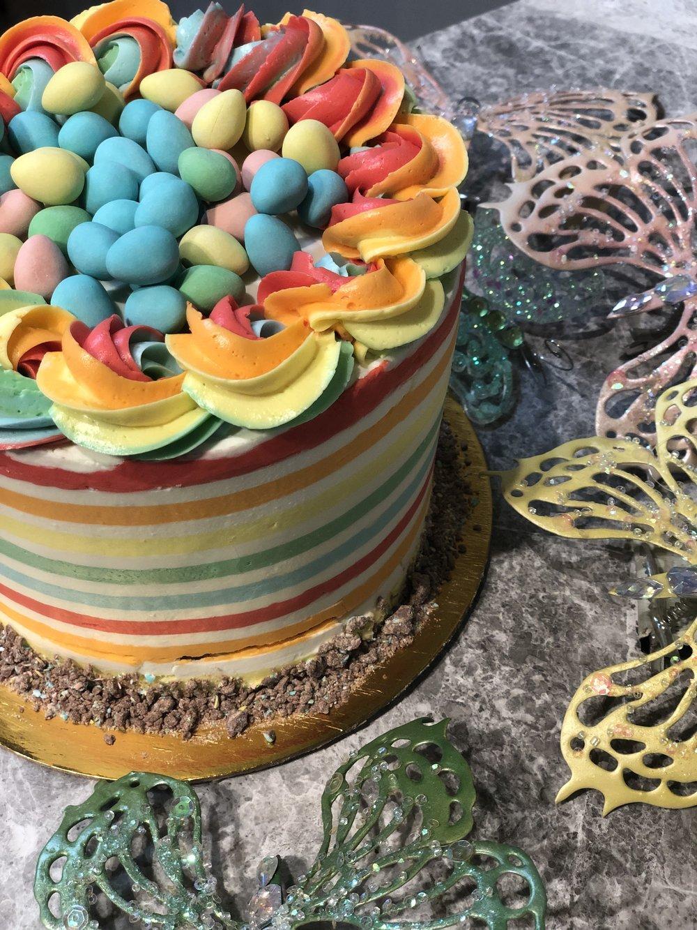 Rainbow Easter Cake