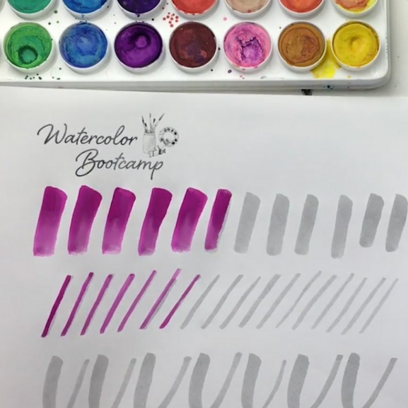 Watercolor Lettering With Paint Brushes - OliviaRandom Olive