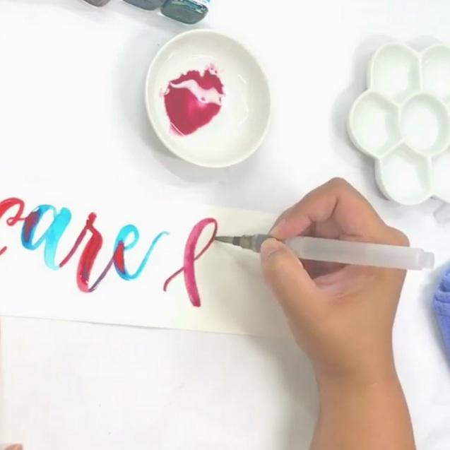 Waterbrush Lettering - TyraTJT Design