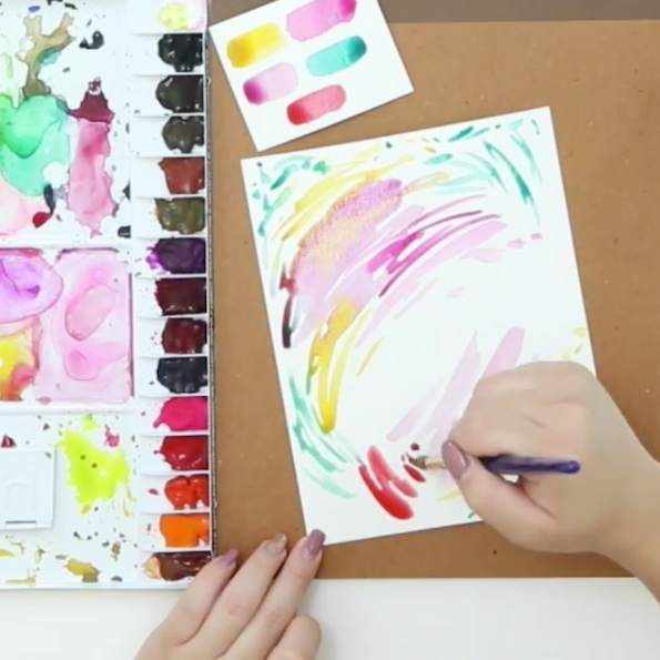 Watercolor Backgrounds for Lettering - ShellyLetters by Shells