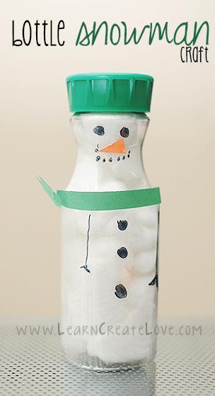 Bottle Snowman image via Learn Create Love