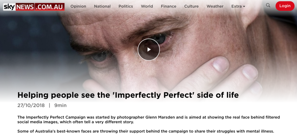 Sky News - Helping people see the 'Imperfectly Perfect' side of life