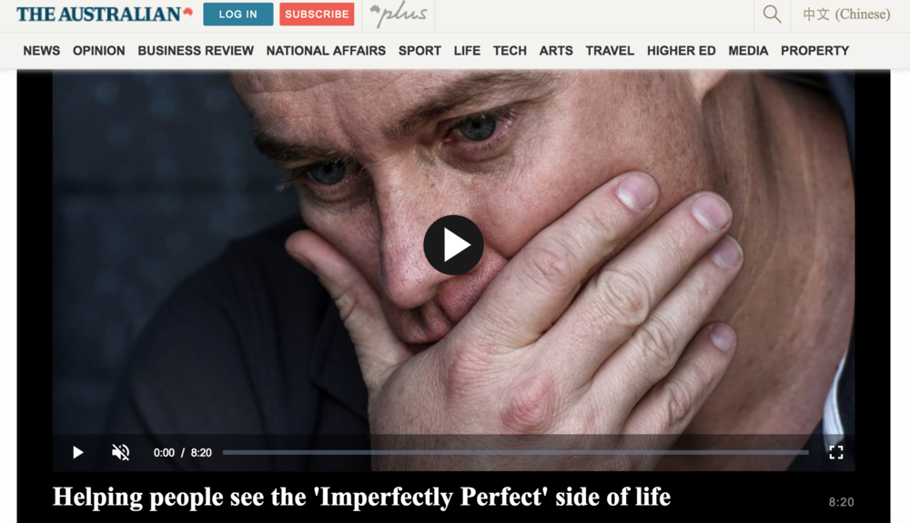 The Australian - Helping people see the 'Imperfectly Perfect' side of life