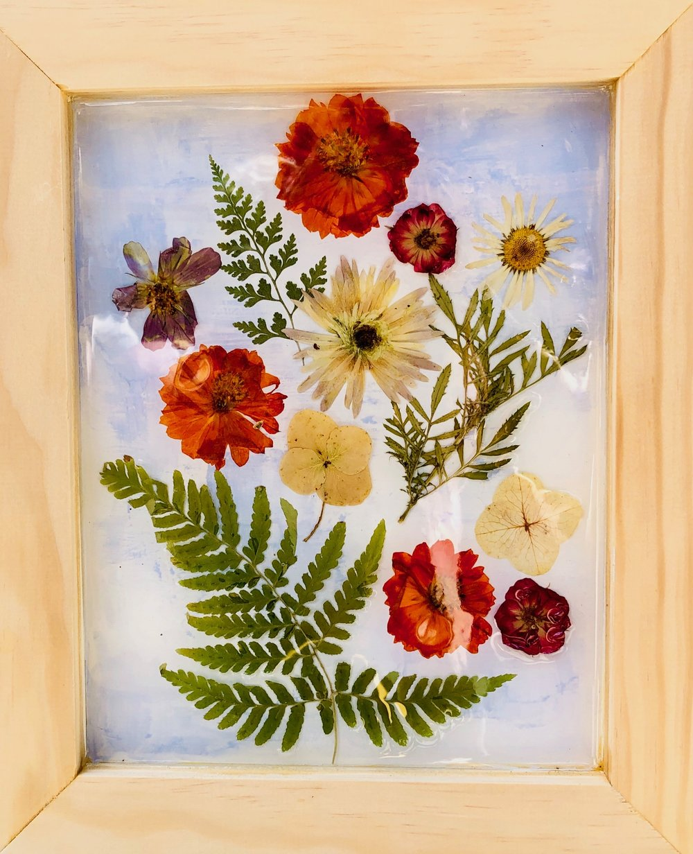 "Heirloom Artwork - ""Listen to the Flowers for they speak to your soul""- K. Greenway"