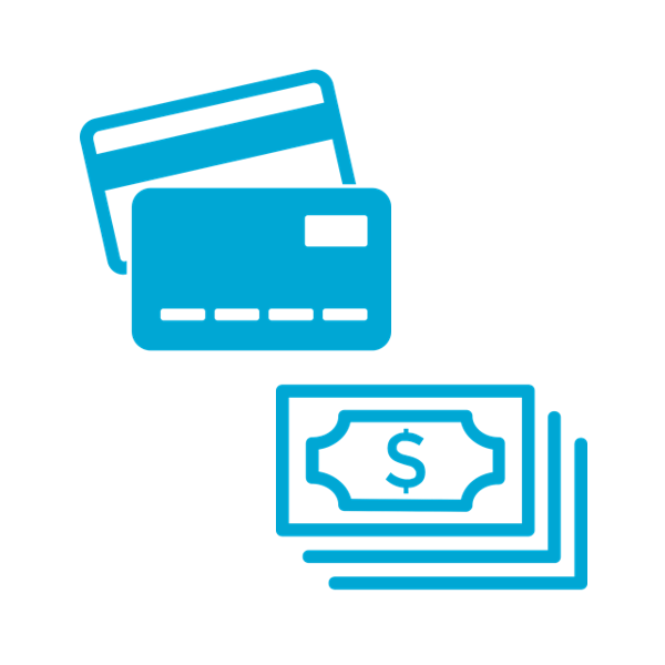 Cash or Card - Attendees can connect a card and have the convenience of running a tab, or load cash and spend down against the balance.