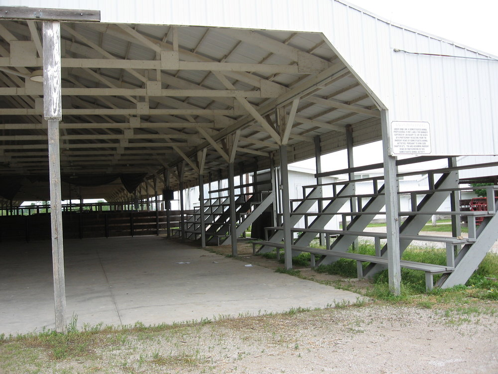 The south show arena is used for large camper and boat storage.