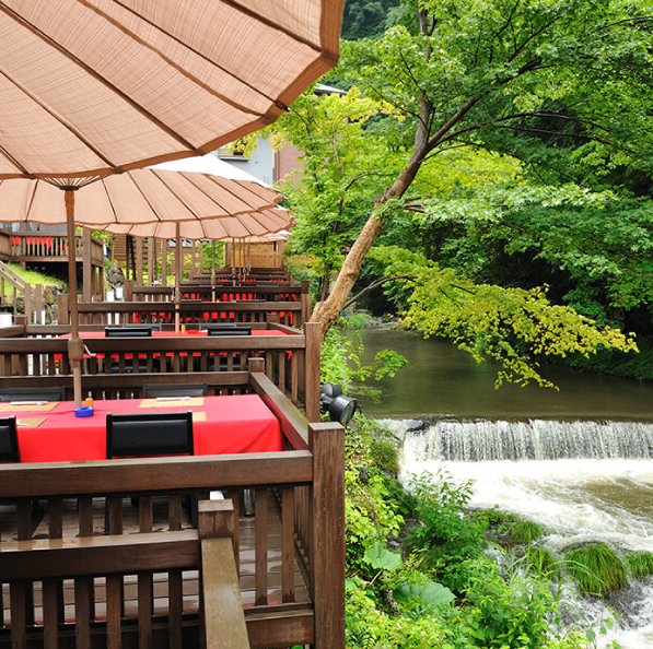 During the Summer guests can dine outdoors