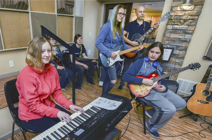 The 'goal' is the sound of music - BY JON POMPIA THE PUEBLO CHIEFTAIN JAN 24, 2018GOAL Academy High School students with their sights on the top 10, or at least a stage and microphone, are getting a leg, and an ear, up in the music biz.Through an innovative partnership between GOAL and Perfect World Music Academy, 40 young men and women now have the enviable opportunity of learning the art of music-making and audio recording from the ground up.Carl and Melinda Lucero, who returned to Pueblo to establish a state-of-the-art recording facility, teamed up with GOAL Academy so that musical doors previously closed to students, for economic or other reasons, could be swung wide open.