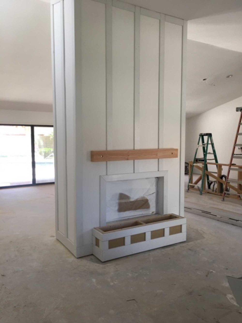 Renovated fireplace