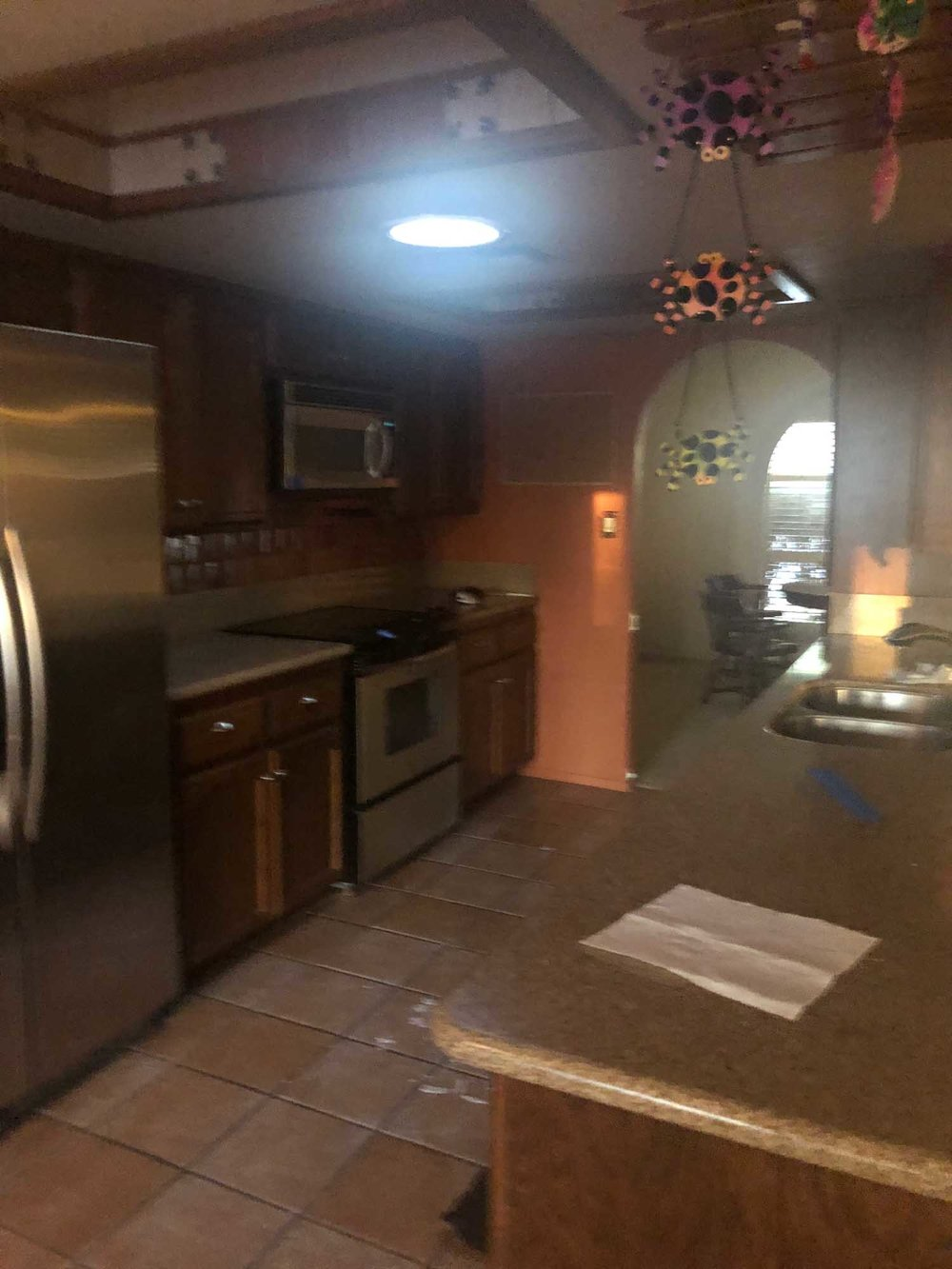 Old Kitchen appliances and cabinets