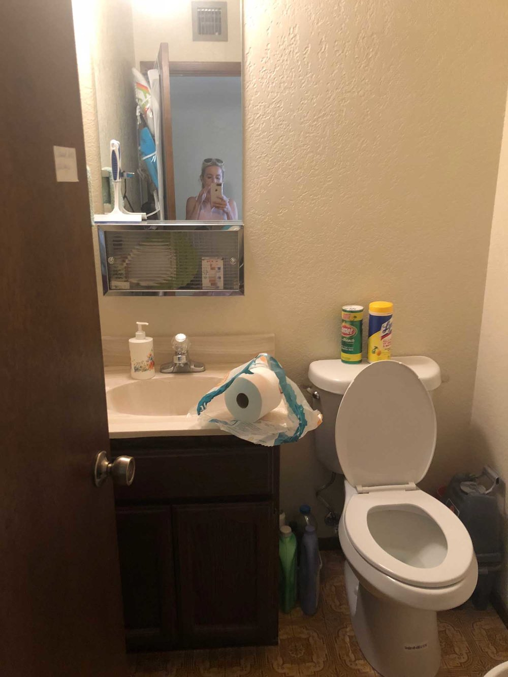 Old toilet with sink and faucet