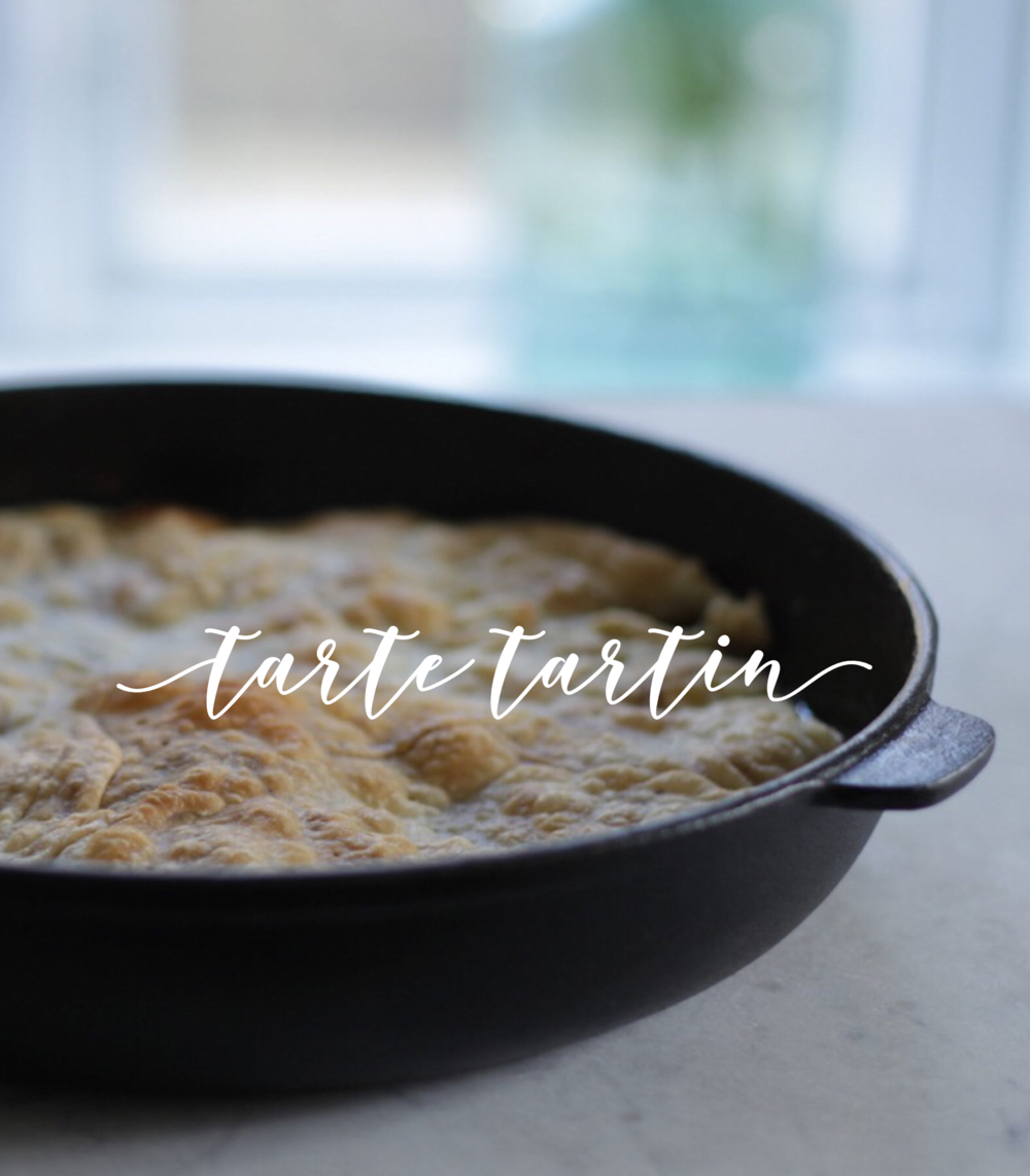 Tarte Tartin. This French upside-down apple tarte can be made in a skillet, along with the famous Apfel Strudel its an all time favourite in this house.