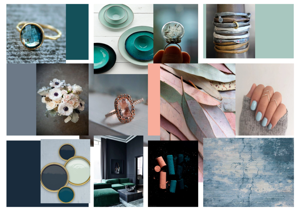Styling - Commercial decor. Moodboard. Jewelry store makeover