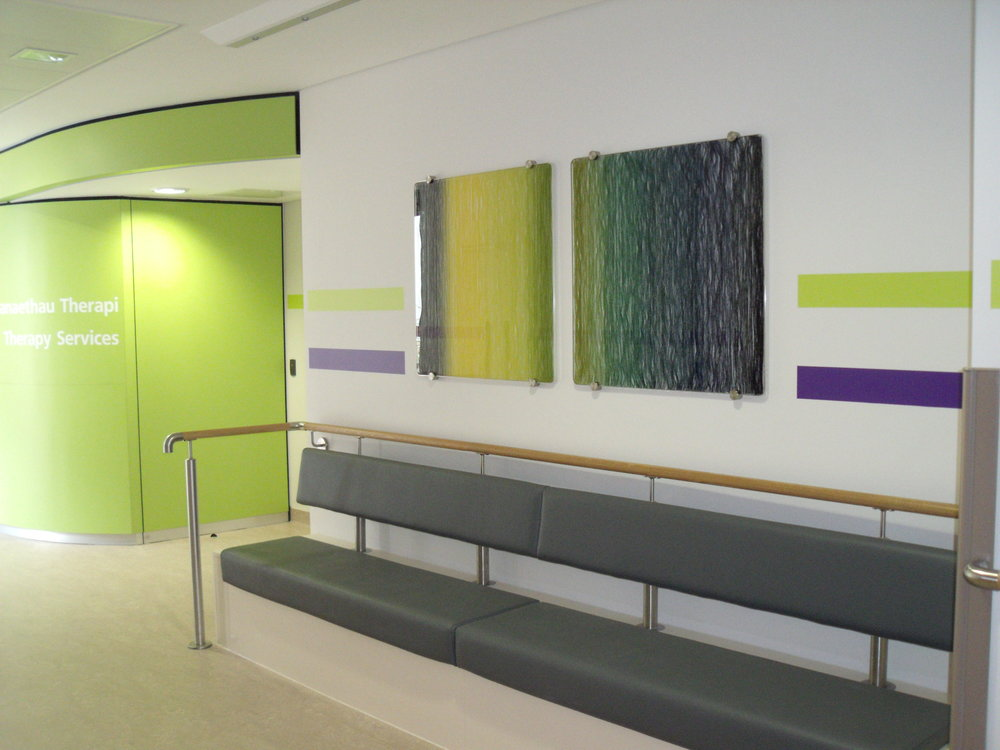Cynon Valley Hospital commission 2012. Cotton encased in glass.