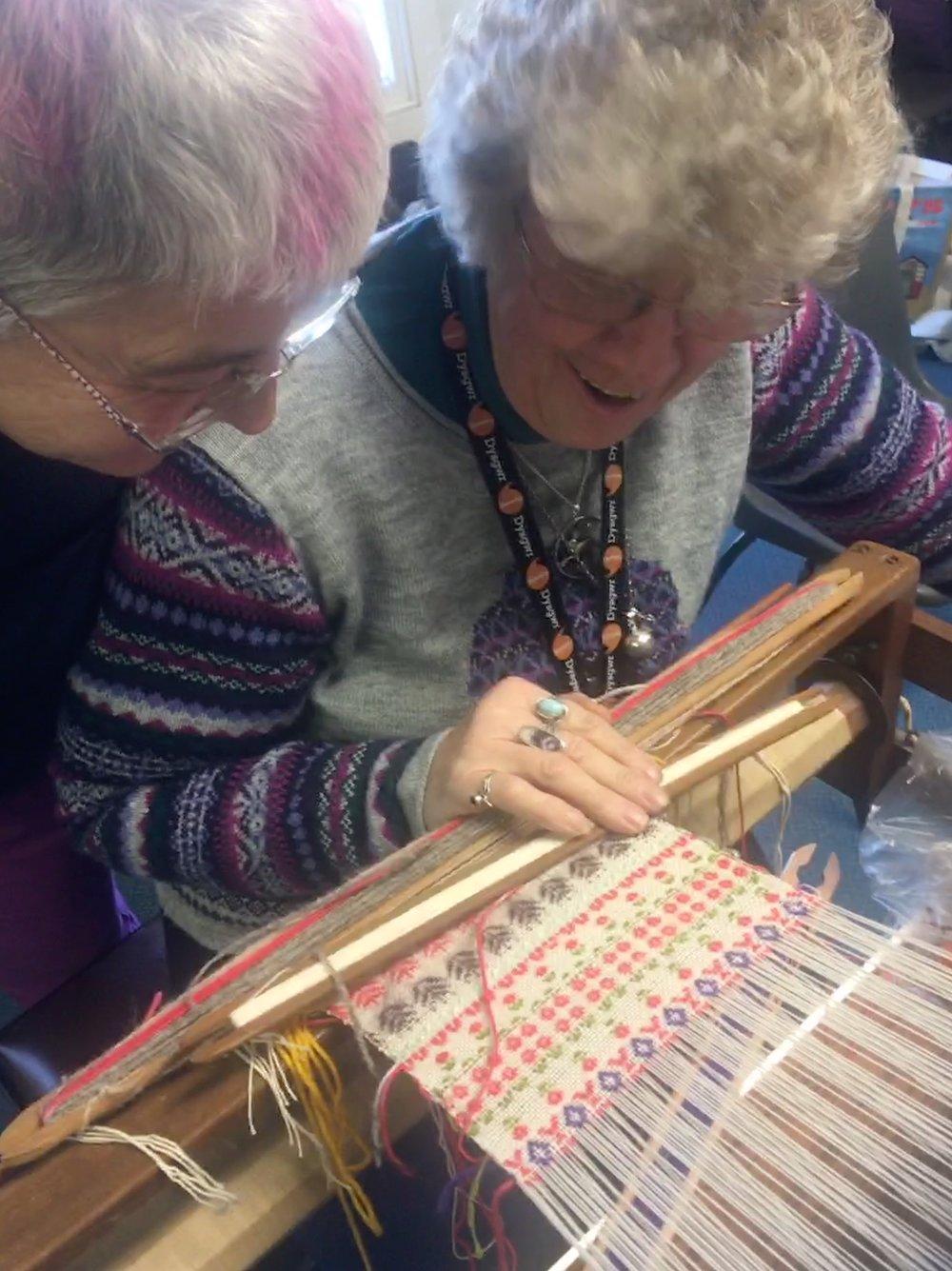 Brocade pattern weaving workshop, Pembrokeshire Guild of Weavers, Spinners and Dyers, 2018..jpg