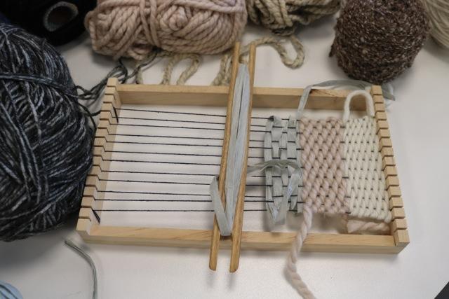 Frame loom weaving workshop, 2018.JPG