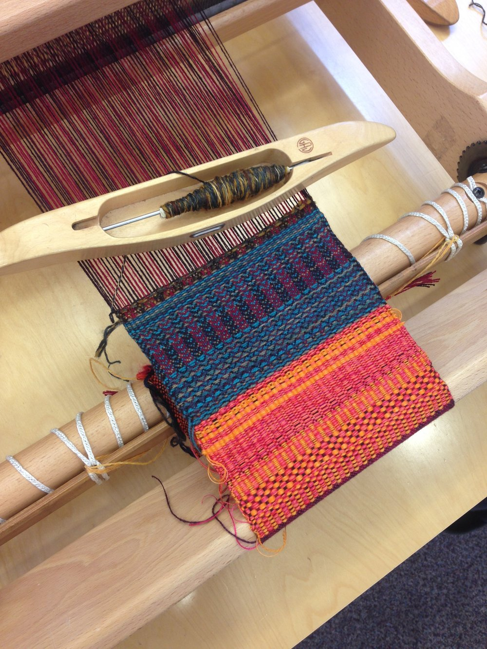 Introduction to weaving workshop, Craft in the Bay.JPG