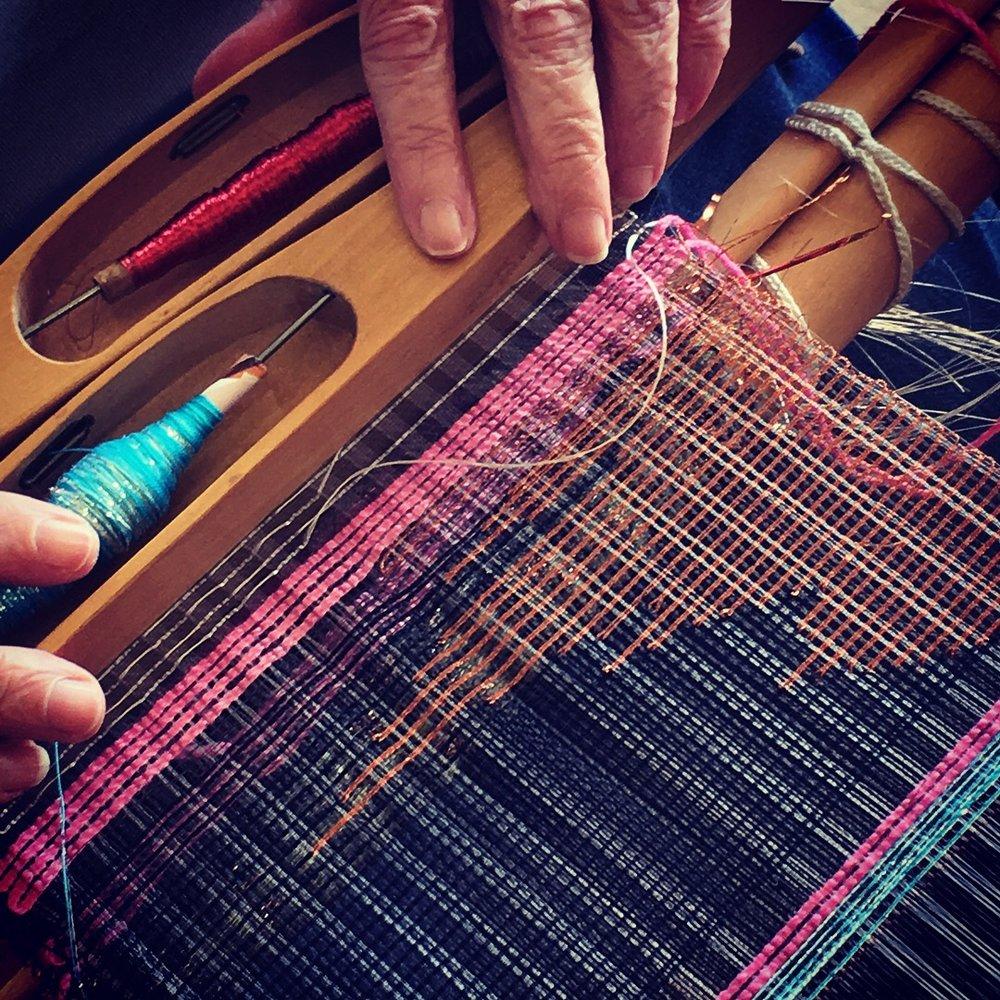Rule Breaking Weaving workshop, Peter Tavy Guild of Weavers Spinners and Dyers 2018.JPG