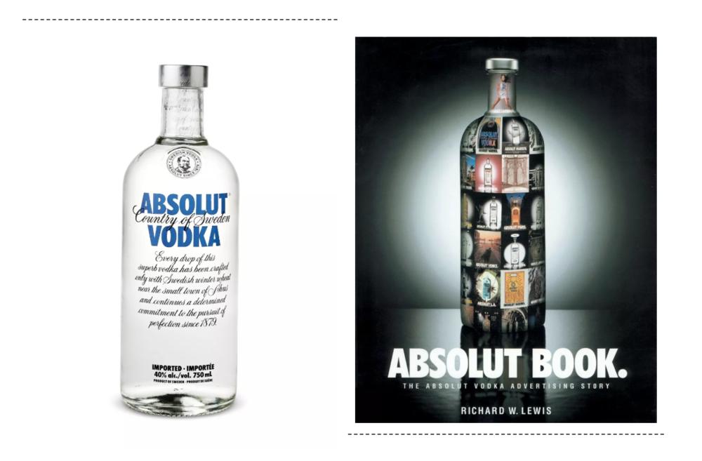 Absolut Vodka(現在還出了很多限量版以及特別口味版)