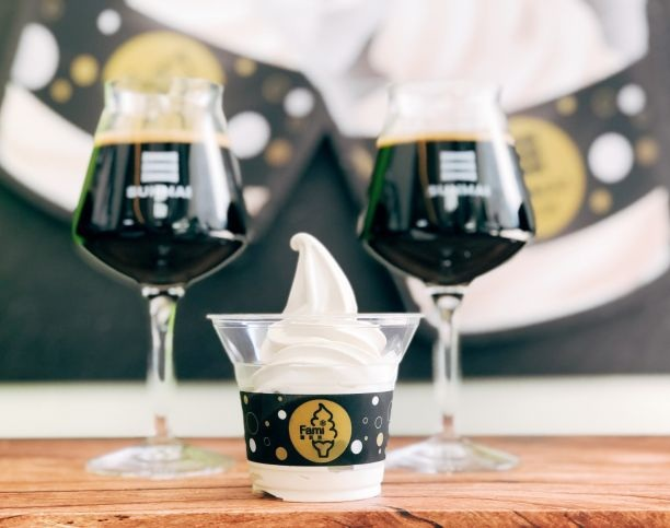 全家X金色三麥所推出的「司陶特啤酒」口味霜淇淋|Photo By GQ