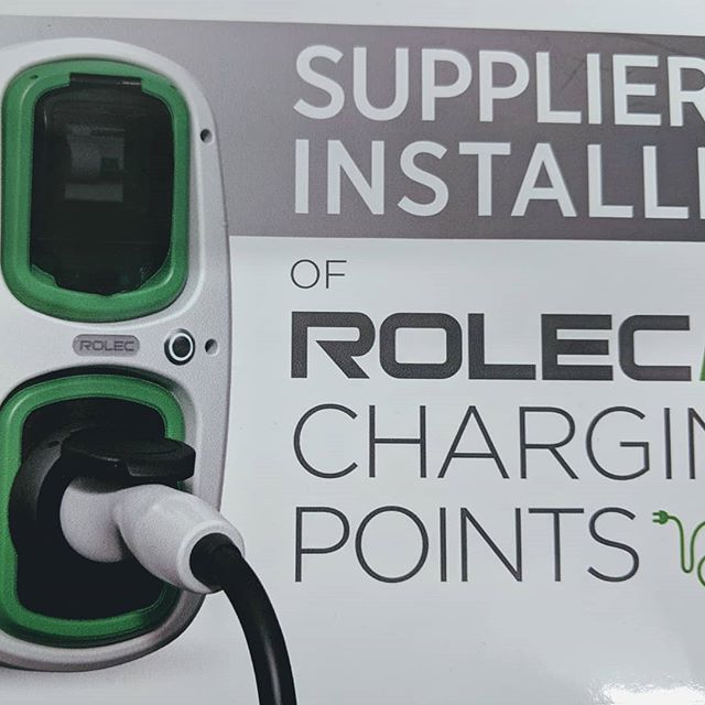Anyone got an electric car? We are a supplier and installer of RolecEV charging points. Contact us today for your free consultation and quote.