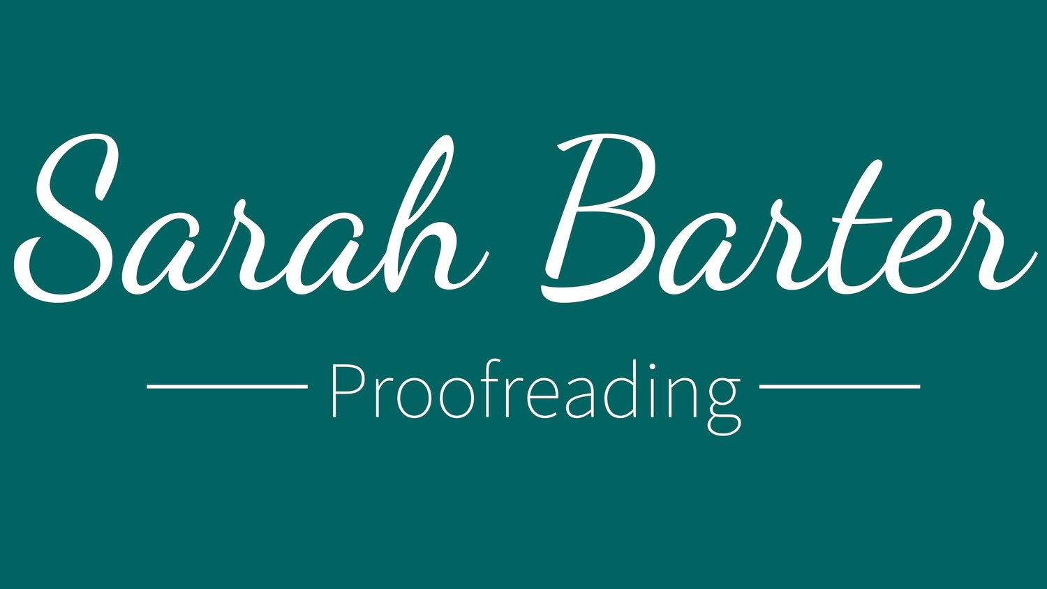 Sarah Barter Proofreading