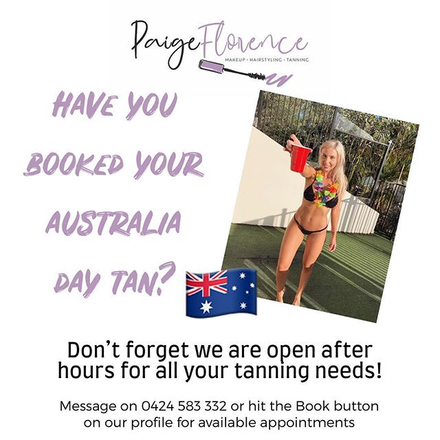 Don't be tanless this Australia Day long weekend!  I still have some appointments available so pop me a message or book online (link in profile) and head into the weekend looking bronzed and fabulous 🙌🏿🇦🇺💁🏿♀️❤️