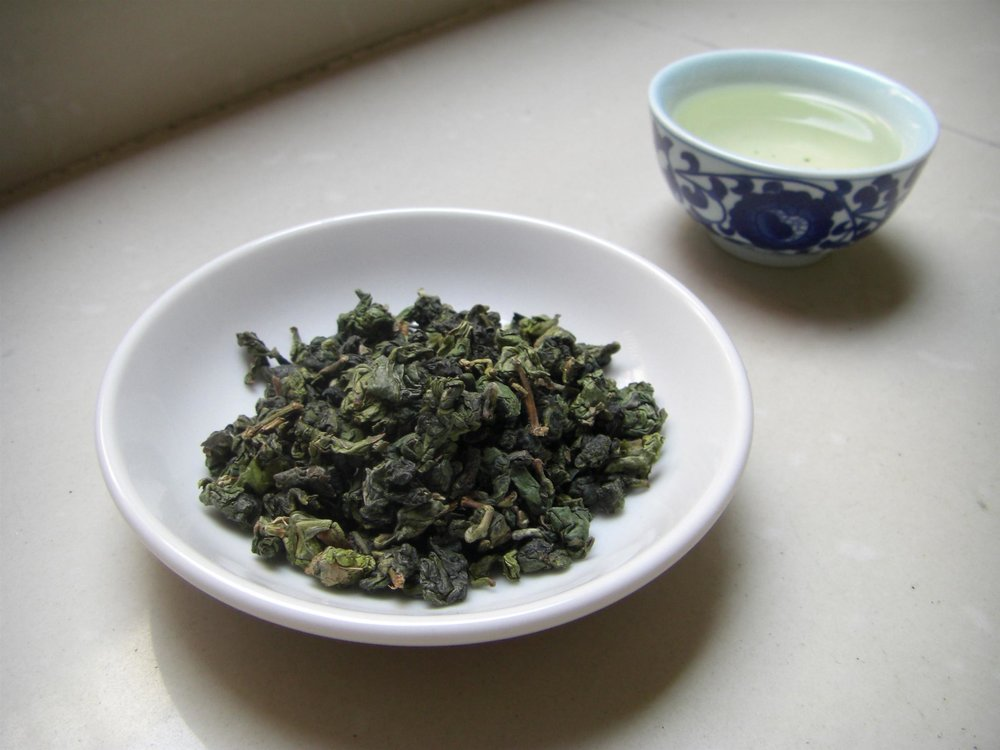 Tieguanyin tea leaves  Quelcrime / Wikimedia