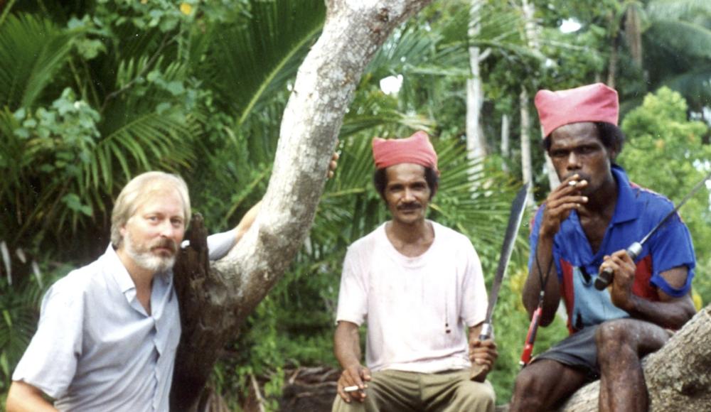 Roy Ellen with Anarima and Heunaka, near the Nuaulu village of Rouhua, south Seram, 1996  Benessaiah and Ellen 2014