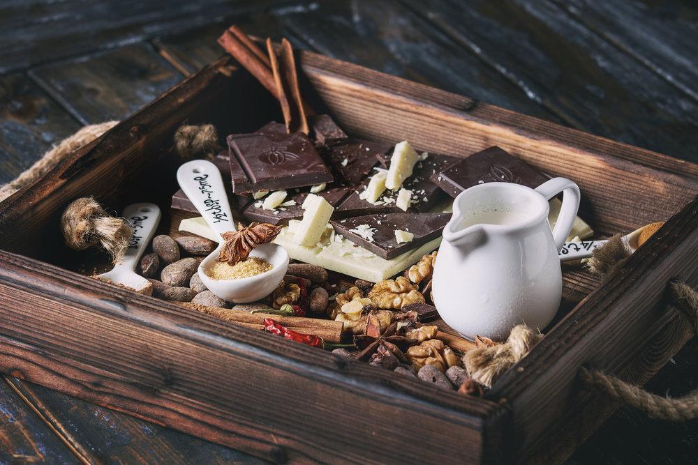 ingredients-for-hot-chocolate-P4JRHEF.JPG