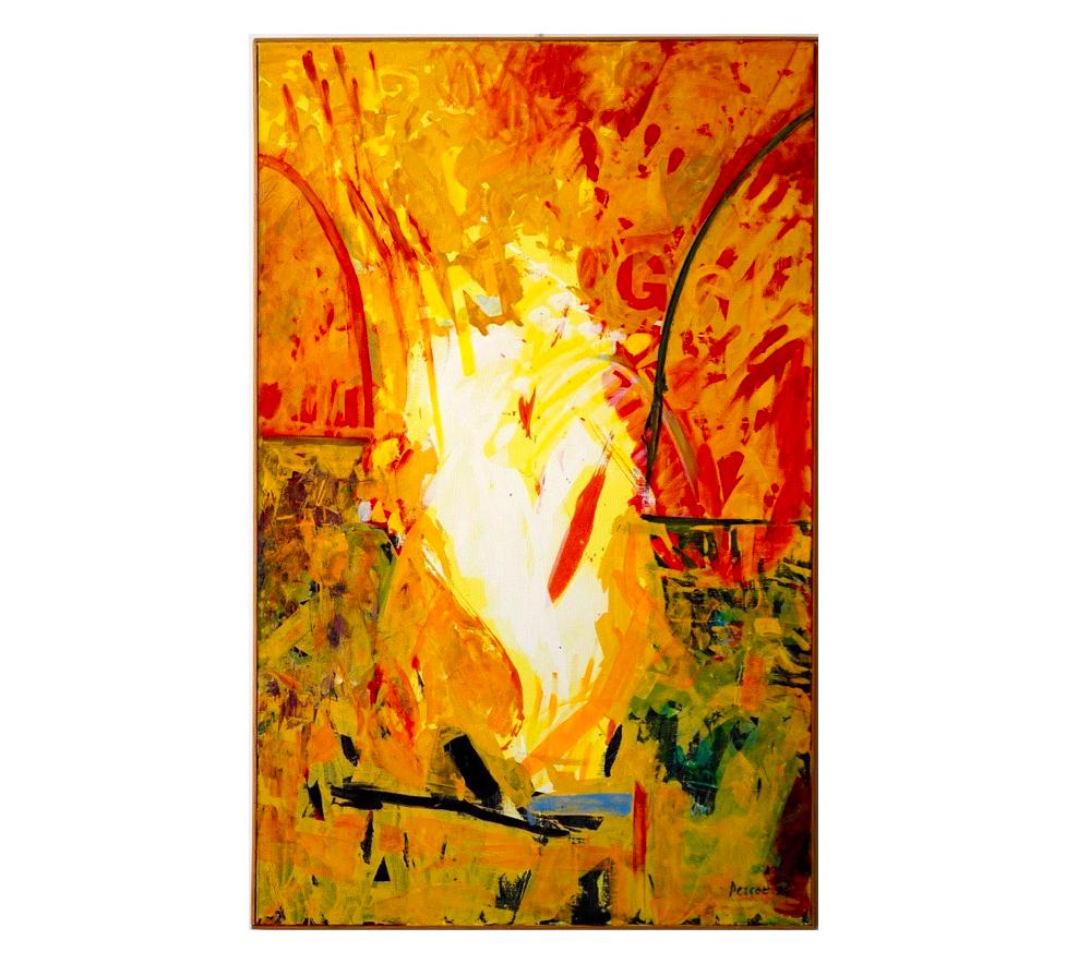"""Comment peindre un ange, Oct. 1994   Jean Percet,  série   """"les mots"""" , HO. 595 Acrylique, 89 x 116 cm"""