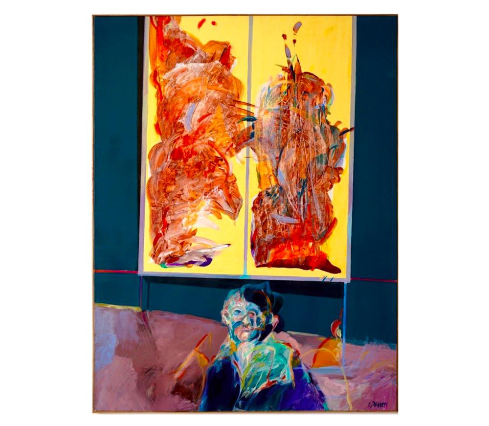 Musée II, Novembre 1983   Jean Percet, Acrylique, 89 x 116 cm