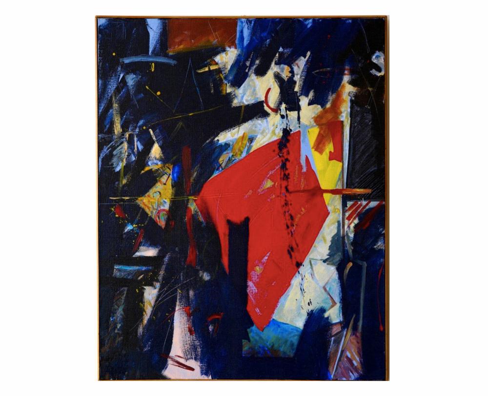 LE RETOUR D'ULYSSE 2, 1988   Jean Percet, Acrylique, 81 x 100 cm