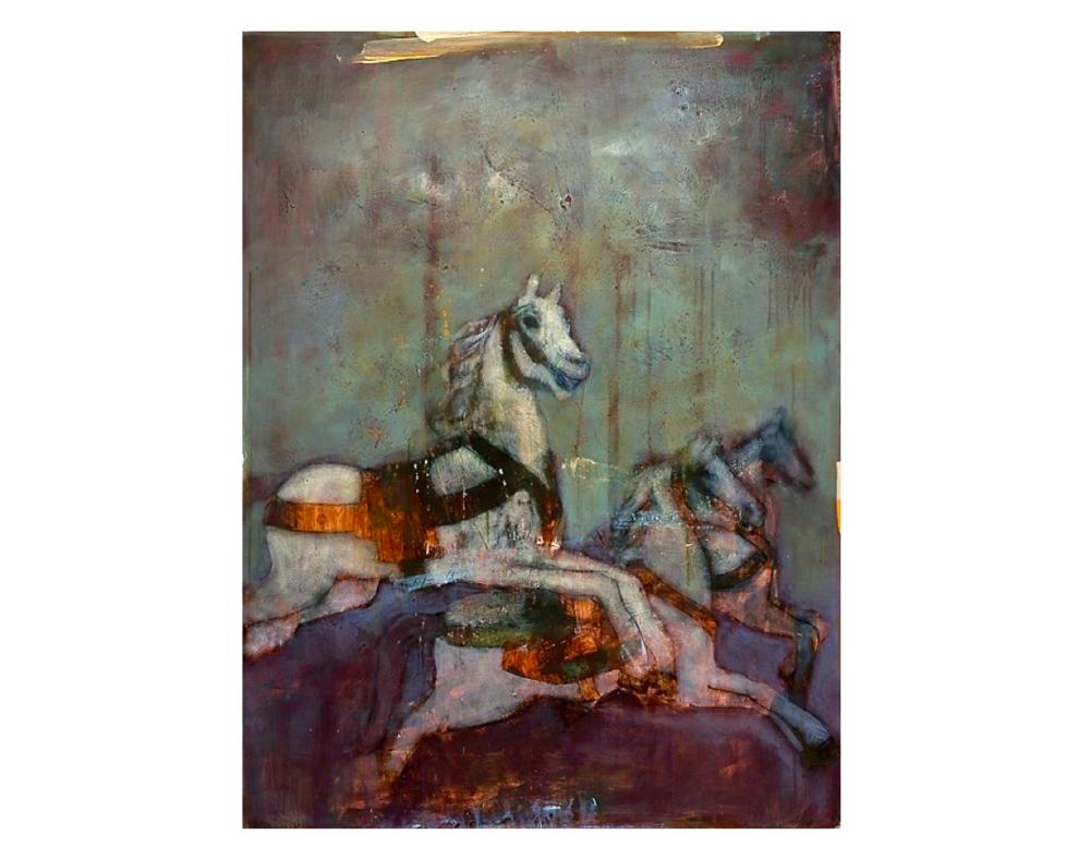 Le Manège (SOLD)   Paul Vilalta, Acrylique, 130 x 97 cm