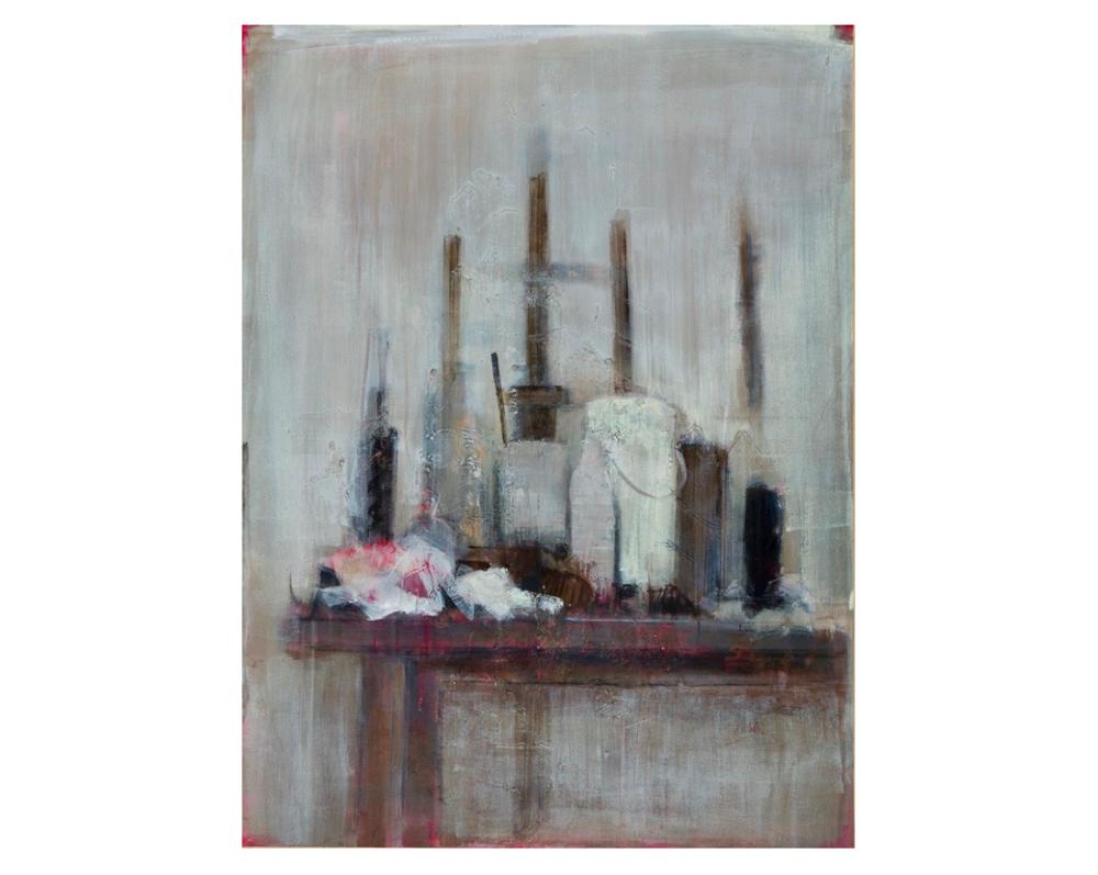 Atelier au grand chevalet   Paul Vilalta, Acrylique, 130 x 97 cm