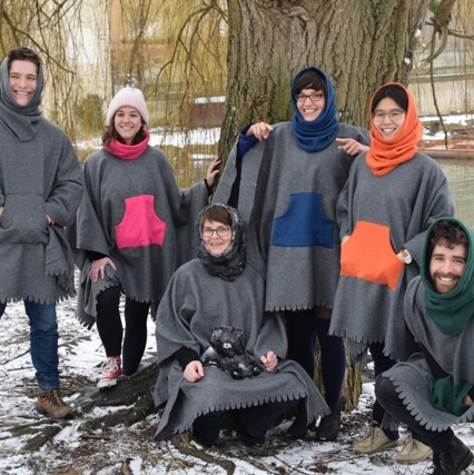 Poncho £17.50 & buys 3 ponchos for refugees  in aid of Cambridge Refugee Action Group