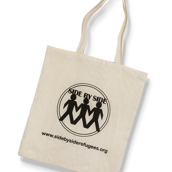 Cotton Tote Bag £5  in aid of Side by Side Refugees