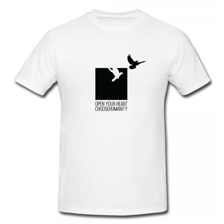 T-Shirt CHF30,00 (est £24.00)  in aid of Choose Humanity