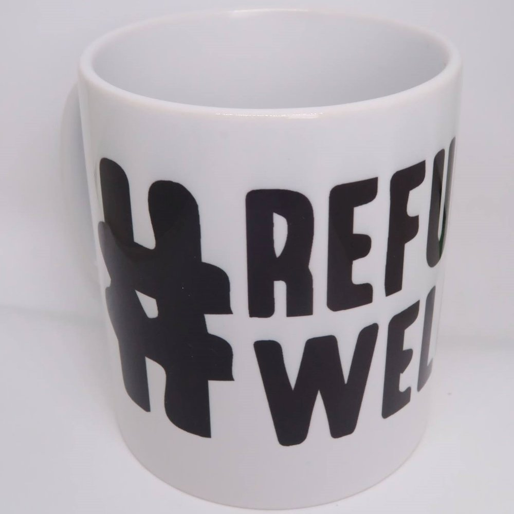 Mug £6  in aid of Open Hearts Open Borders