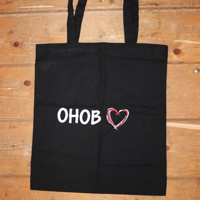 Tote Bag £8  in aid of Open Hearts Open Borders
