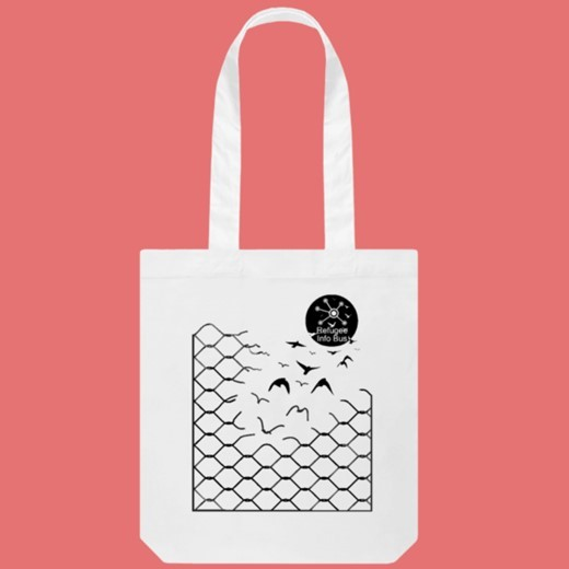 Tote Bag (organic) £12  in aid of Refugee Info Bus