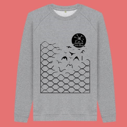 Sweater £35  in aid of Refugee Info Bus
