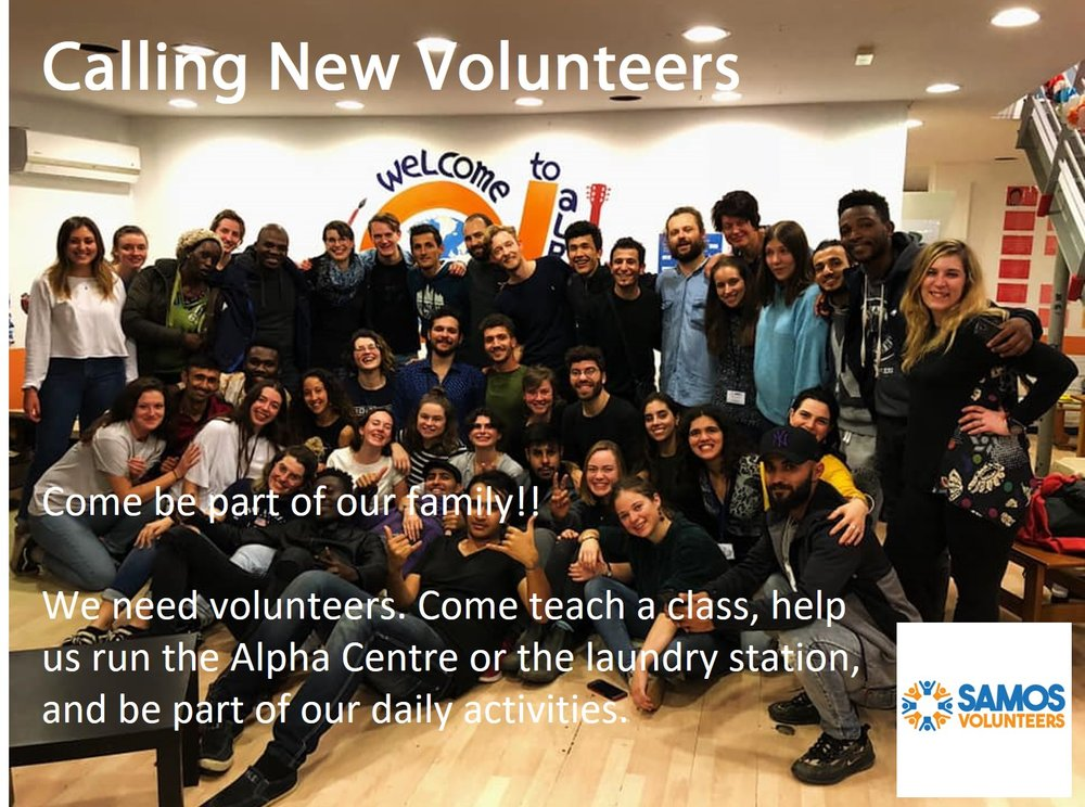 """Samos volunteers - samosvolunteers.org/volunteer/""""Volunteering with us is an exciting and rewarding experience. We work in a highly challenging and demanding environment on the Greek island of Samos, where your time and energy have a real impact."""""""