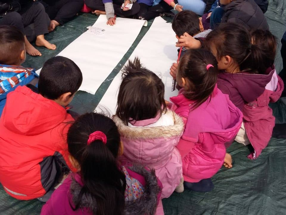 moria camp, lesvos, Greece - Refugee 4 Refugees are providing daily education, activities and a safe place to play benefiting around 250 of the youngest children living in the Moria Refugee Camp, thanks to our funding 12 months' rent for the land.