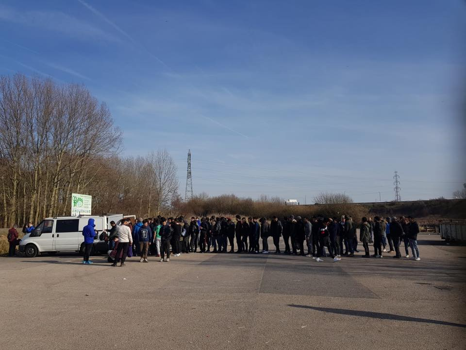 dunkirK, FRANCE - Mobile Refugee Support distributed critical aid like tents and sleeping bags, along with practical help like wifi and mobile phone charging, to help up to 500 homeless male refugees in northern France throughout the cold month of February, thanks to our support.