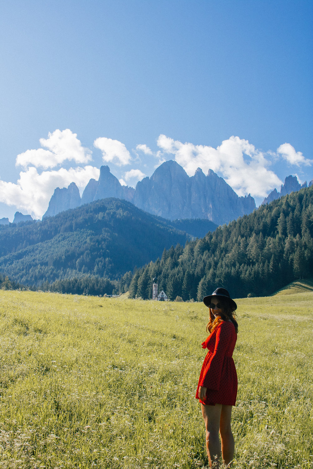 dolomites girl adventure italy