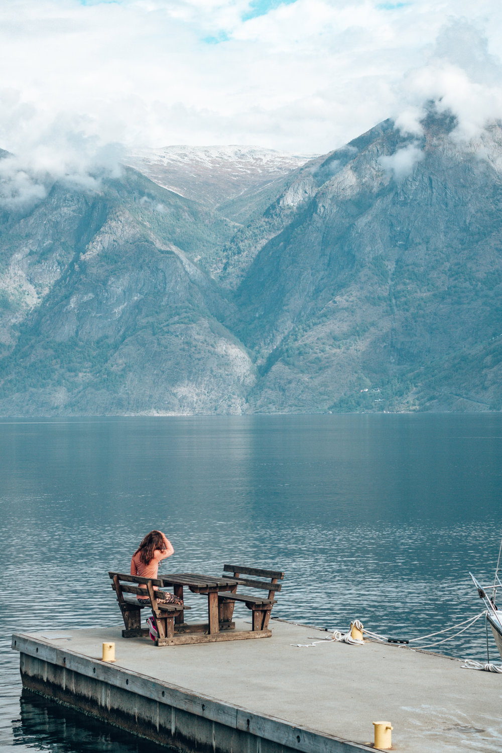 Fjords Norway Alone on a Bench