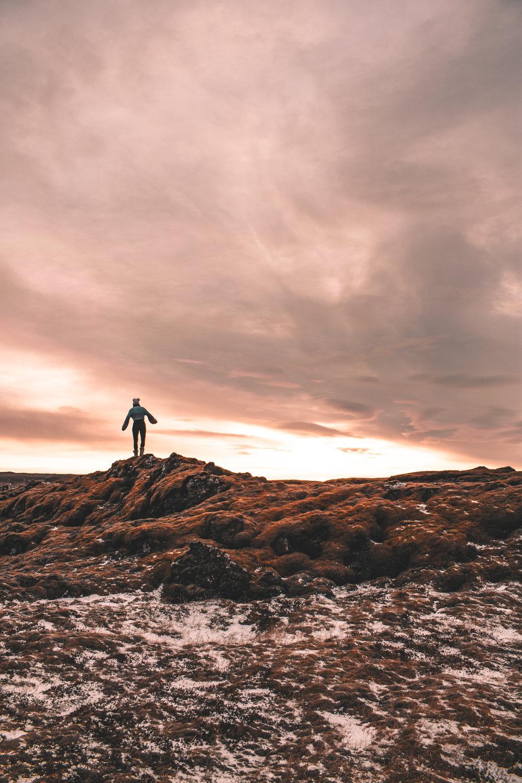Sunrise in icelandic landscape
